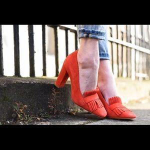 Boden Campbell Suede fringed heels